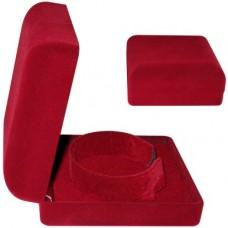 Cutie din Catifea Rosie pentru Colier cu interior Rosu
