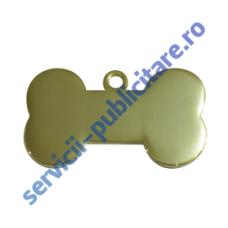 Medalion Bone PET, 37x22mm, placat cu Aur
