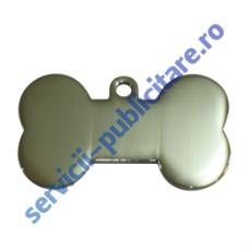 Medalion Bone PET, 37x22mm, placat cu Nichel