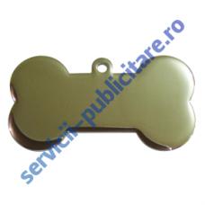 Medalion Bone PET, 60x32mm, placat cu Nichel