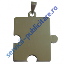 Pandant Puzzle 25x33mm, placat cu Nichel