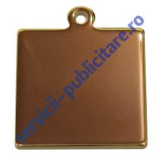 Pandantiv patrat 25x25mm, placat cu Aur