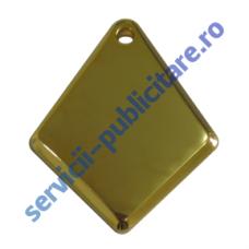 Pandantiv romb, 23x29mm, placat cu Aur, 3-D