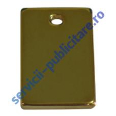 Dog Tag 15x25mm, placat cu Aur