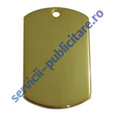 Dog Tag 22x36mm, placat cu Aur