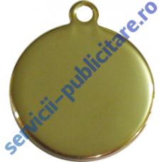 Pandantiv rotund 17mm placat cu Aur