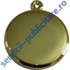 Pandantiv rotund 23mm 3D placat cu Aur
