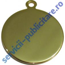 Pandantiv rotund 27mm placat cu Aur