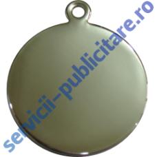 Pandantiv rotund 27mm placat cu Nichel