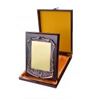 Placheta rectangulara in cutie de lemn 260x200mm
